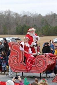 Chelsea Parade Santa and Mrs. Claus in Sleigh