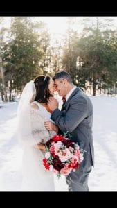 Mike Medici and wife Crystal at their wedding