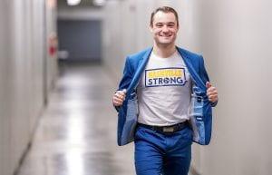 Rocco Grimaldi wearing a Nashville Strong Shirt