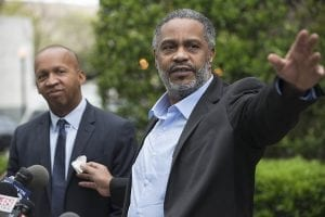 Anthony Ray Hinton and Bryan Stevenson