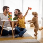 Happy Family Having Fun Playing