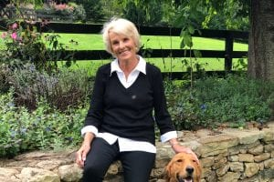Susan Yates with Dog
