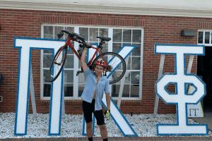 Ben Cox with his bike