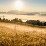 bigstock Sunrise In Mountain Landscape 402368000
