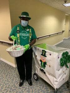 St Patricks Day leprechaun at Brookdale