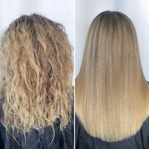 T Fox Salonspa Keratin treatment before and after image