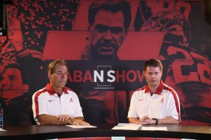 Chris Stewart and Nick Saban