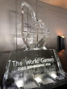 World Games 2022 Ice Sculpture