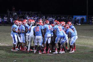 Banks Academy's football team on the field