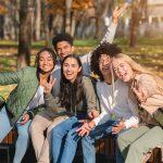 bigstock Multiracial Group Of Carefree 383370884