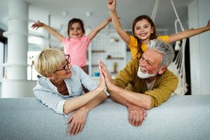 bigstock Grandchildren Having Fun Play 422341178