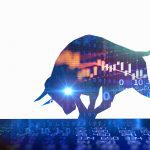 bigstock Silhouette Form Of Bull On Fin 410348998