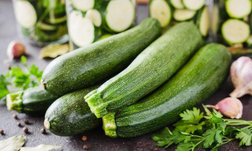 bigstock Fresh Organic Zucchini Garlic 321981175