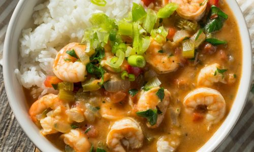 spicy homemade cajun shrimp etouffee GQ84HMU